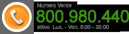 Richiedi Assistenza al numero verde 800.980.440